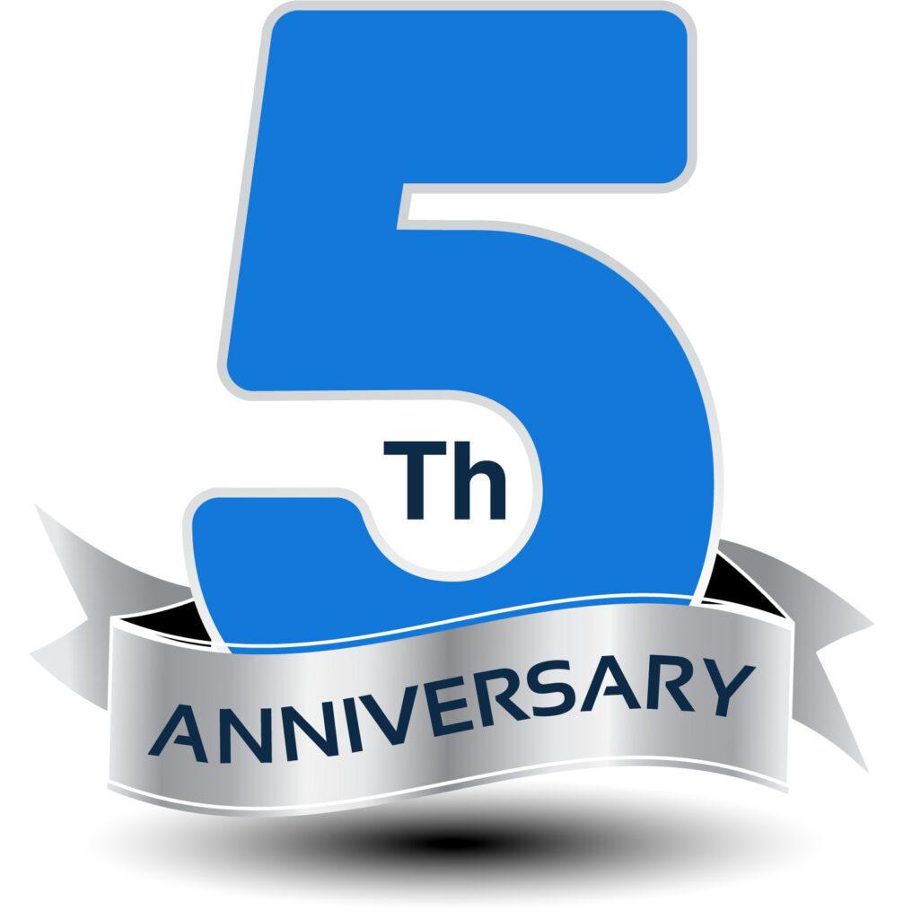 5th Annoversary logo